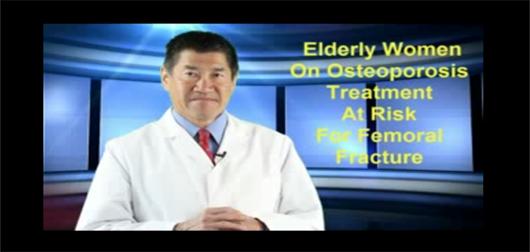 Elderly women at risk for femoral fracture