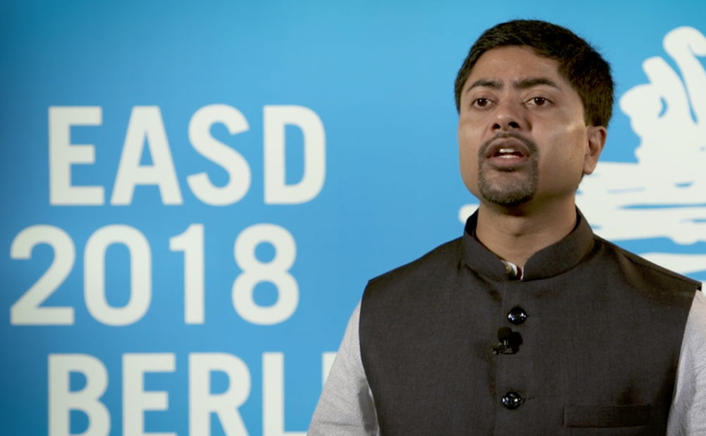 Deep Dutta, EASD 2018 – prediabetes, reversal and benefits of diet plans