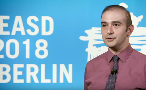 Mahmood Kazemi, EASD 2018 – flash glucose monitoring and routine self-monitoring of blood glucose